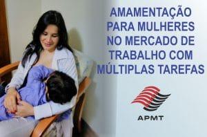 Amamentação para mulheres no mercado de trabalho com múltiplas tarefas
