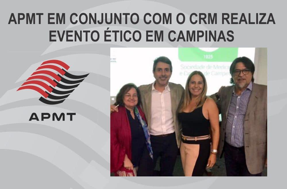 APMT em conjunto com o CRM realiza evento ético em Campinas