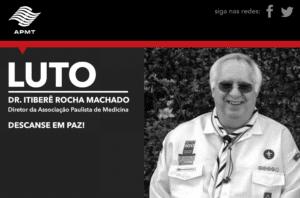Nota de falecimento do Dr. Itiberê Rocha Machado