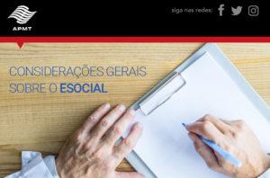 Considerações gerais sobre o eSocial