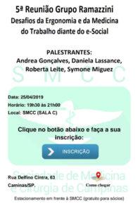 5ª Reunião Grupo Ramazzini!