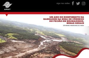 Um ano do rompimento da Barragem da Mina de Córrego do Feijão em Brumadinho, Minas Gerais