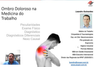 Série Propedêutica Exame Osteomuscular – Ombro Doloroso na Medicina do Trabalho – Dr Leandro Guimarães