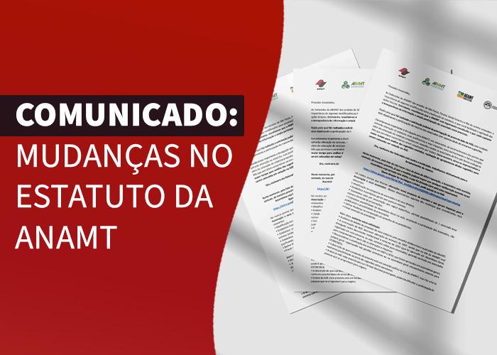 Comunicado: Mudanças no Estatuto da ANAMT